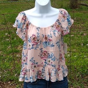 Lily white floral hi low size medium